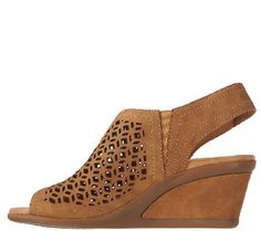 Earth leather wedge sandals. The Cascade. From Earth Brands Footwear.