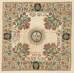 Italian ~ Chalice Veil ~ Silk ~ embroidery ~ Museum of Fine Arts, Boston
