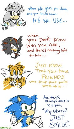 silver shadow tails & sonic xD