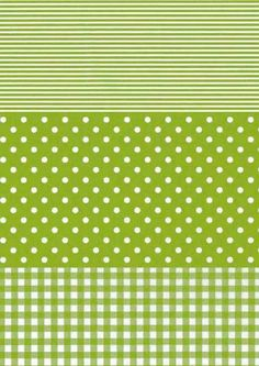Decopatch Green Spots & Stripes Paper