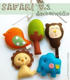 Musical Baby Safari Mobile by GiftsDefine on Etsy $130.00