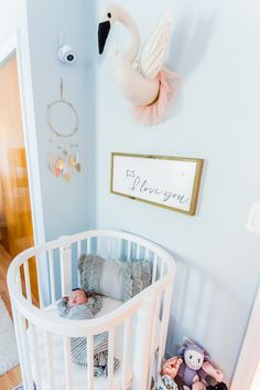 What is Whimsy and How to Get this Popular Nursery Look The Sweetest Little Nursery Nook in a Master Nursery Nook, Nursery Room Decor, Project Nursery, Girl Nursery, Nursery Ideas, Baby Girl Bassinet, Baby Nook, Boys Room Colors, Baby Corner