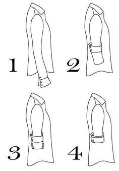 Esta es la manera correcta de doblar las mangas de tu camisa. | 17 Gu�as visuales de estilo que todo hombre necesita en su vida