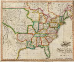 United States Louisiana Purchase rare 1799 antique map by Payne