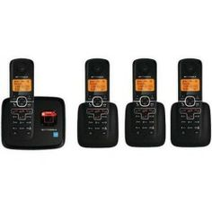 Undisputed  L704 DECT 6.0 Enhanced Cordless Phone with 4 Handsets and Digital Answering System
