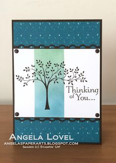 Sympathy card using Stampin' Up!'s Thoughts & Prayers stamp set and Bohemian DSP available from my online store: http://angelaspaperarts.stampinup.net   #masking  #angelaspaperarts