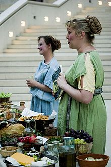Roman cooking, for a more grown up toga party. (maybe the ides of march?)