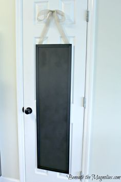 spray paint a $5 mirror with chalkboard paint ant hang on your pantry door for grocery list