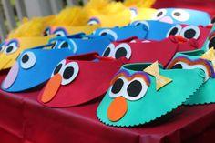 Cute #DIY Sesame Street Visors - Rosita, Elmo, Grover and Big Bird