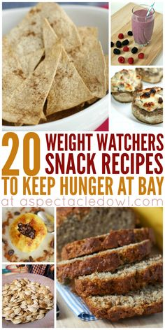 20 Weight Watchers Snacks To Keep Hunger at Bay - A Spectacled Owl Weight Watchers Smart Points, Weight Watcher Snacks, Weight Watchers Desserts, Weight Watchers Pizza, Ww Recipes, Snacks Recipes, Skinny Recipes, Yummy Healthy Snacks, Healthy Tasty Snacks