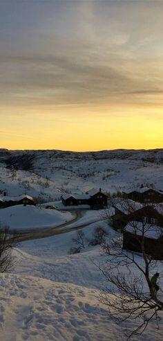 Winter day at mountain Winter Day, Orange, Yellow, Norway, Mountain, Celestial, Sunset, Gold, Photos