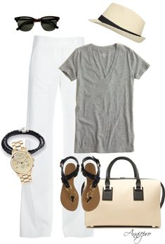 """Long Weekend , Down the Shore"" by anniepro on Polyvore Mood Boards, Casual Outfits, Casual Clothes, College Outfits, Casual Looks, Casual"