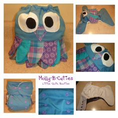 Molly-B-Cutie's Little Cloth Booties Cloth Diaper Cover I love this!