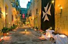 Birgu Fest, Malta. Gorgeous old town lit up with candles for one night of the year.