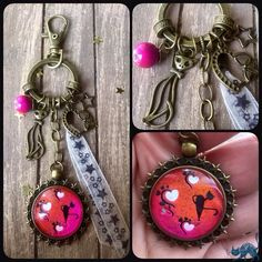 "Porte-clés/bijou de sac Nail Art ""Hoshi"" par les Malices D'hanigrigri"