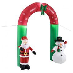 The Seasonal Aisle Aufblasbarer Weihnachtsmann und Schneemann Christmas Arch, Christmas Snowman, Christmas Ornaments, Inflatable Christmas Decorations, Christmas Inflatables, Santa Claus Village, Lapland Finland, Seasonal Decor, Holiday Decor