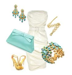 perfect summer garden poolside party outfit! I can also see this in coral!