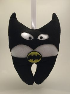 Batman Tooth Fairy Pillow by TheUpcycledOwlShop on Etsy
