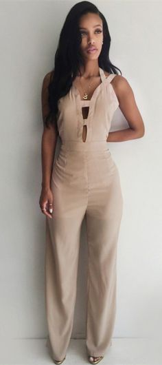 Hollow Out Backless Bodycon Jumpsuit
