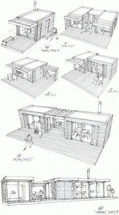 עיצוב חלל ייחודי המאפשר לתכנן חללים שונים ולבצע תכנון שונה עם אותם המודולים