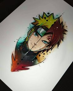 Hello guys, another top illustration for you, comment what character you are . Naruto Gaara, Anime Naruto, Naruto Comic, Naruto Shippuden Anime, Boruto, Itachi, Kakashi Drawing, Naruto Drawings, Disney Drawings
