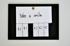 Take a Smile Greeting Card  Handmade and Signed by Torang on Etsy, $5.50
