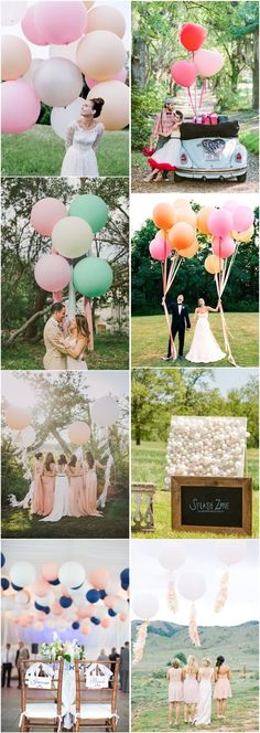35 Giant Balloon Wedding Ideas For Your Big Day | http://www.deerpearlflowers.com/giant-balloon-wedding-ideas-for-your-big-day/