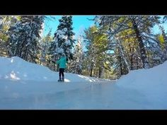 If there's one thing Canada is good for, it's winter and winter activities. Introducing the Ice Skating Trail in the Muskoka Forest in Arrowhead Provincial Park. It's definitely one of the most unique