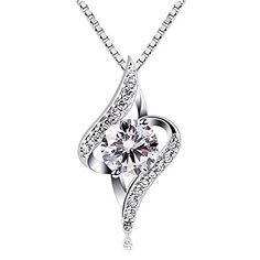 dcd76f18c9e2 Catcher Women Silver Necklaces 925 Sterling Silver Necklace with Cubic  Zirconia 18 B Catcher Necklaces Sterling Necklace Zirconia belongs to hot  selling ...