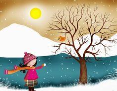 Resultado de imagen para imagenes del invierno con lluvia infantiles Image Types, Google Images, Disney Characters, Fictional Characters, The Originals, Disney Princess, Painting, Cold, Winter Scenery