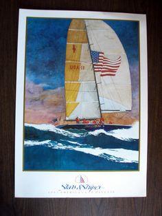 1992 America's Cup Stars & Stripes Poster  by vintagelovesandmore, $28.00