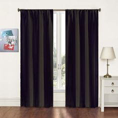 Fizz Solid Woven Curtain Panels, Set of 2