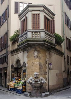 """A favorite corner in Florence, Italy""  So what streets? Not that it will really help...."