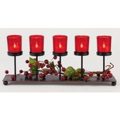 Holly and Ivy 5 Candle  Centrepiece #HomebaseMumsnetXmas