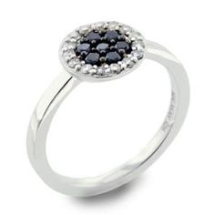 #Malakan #Jewelry - Silver Black Velvet Diamond Ladies Ring 55284A3 #BlackVelvetDiamond #BlackVelvetDiamonds