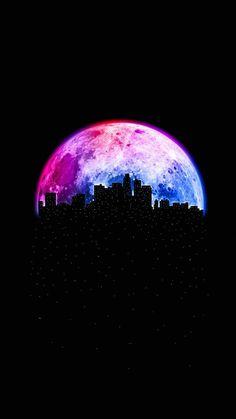 Moon City IPhone Wallpaper - IPhone Wallpapers