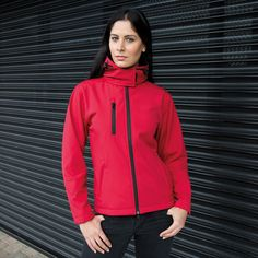 RESULT TX PERFORMANCE WOMENS HOODED SOFT SHELL JACKET, ISE Online