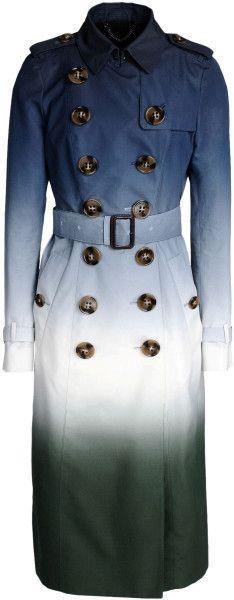 Burberry Prorsum Full-Length Jacket in Blue (Slate blue)