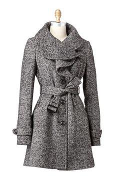 Coats, Coats, Coats. I love coats.  The ruffles in front are darling :)