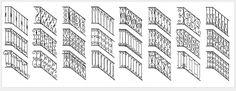Vente de rampes en fer forgé avec motifs variés