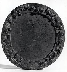 Ifa Divination Tray (Opon Ifa) Date: 19th–20th century Geography: Nigeria Culture: Yoruba peoples Medium: Wood