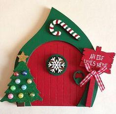 Elf Door - Beautiful Hand Painted Christmas Fairy Elf Door Decoration   eBay