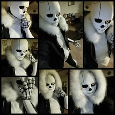 <p>So I heard you guys like Gaster!Sans selfies…. Here, have some more now that my jacket has fur on it so it's a bit more iconic. <br/>G!Sans original design by Borurou! Mostly designing based off Yoralim's Echotale.</p><p>This is still a work in progress! I still have to add the top zippers and patches on the jacket, buy the suspenders and add rivets to those and make new arm socks with his hand holes! </p>