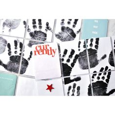 I love taking handprints of my boys, but I realised last time I did so was in Dec of last year! I cut some of the handprints up to use in my Project Life album. My idea is to write down some things they did/said/learned this month, so I will finish this in a couple of weeks. Handprints were made using water based blockprint ink which I applied with a roller. It works really well, you can see their fingerprints and other lines.