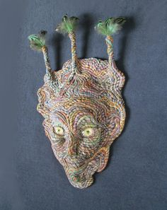 Tree Spirit Face Mask Wall Sculpture by JanePriserArts on Etsy