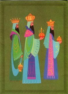 Christmas •~• vintage wise men greeting card, by Brian Day