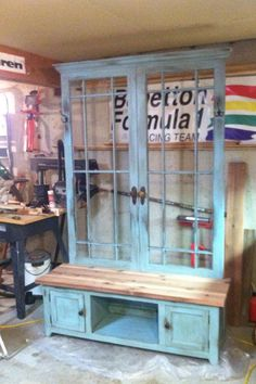 Reclaimed French door entry bench by ElDoradoWood on Etsy, $2000.00