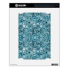 Funky Blue Circles Pattern e-Reader skin