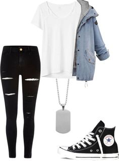 One jacket 27 spring outfits for teens! #springfashion #teenoutfit #winteroutfits #fashionableoutfits,