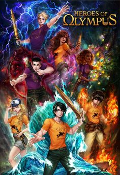 Heroes of Olympus by AireensColor on DeviantArt Percy Jackson Fan Art, Percy Jackson Drawings, Percy Jackson Wallpaper, Percy Jackson Characters, Percy Jackson Quotes, Percy Jackson Books, Percy Jackson Fandom, Percy And Annabeth, Annabeth Chase